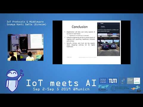 Monday, Sep 2, 2019 – IoT Technology (morning session)