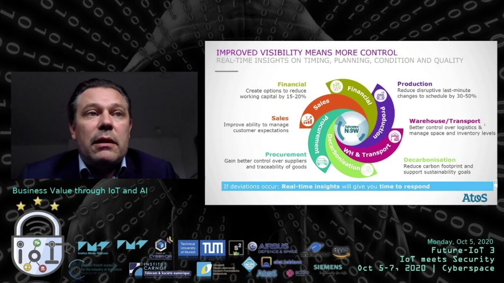 "[REC] Business Value through IoT and AI – Niels Thomsen (Atos Origin) at Future-IoT 3rd edition: ""Iot meets Security"" (2020-10-05)"