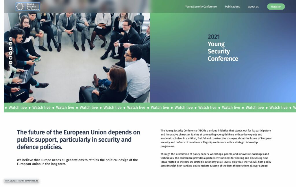 """Participation at the panel """"Cyber security & Digital policies"""" at theYoung Security Conference 2021"""