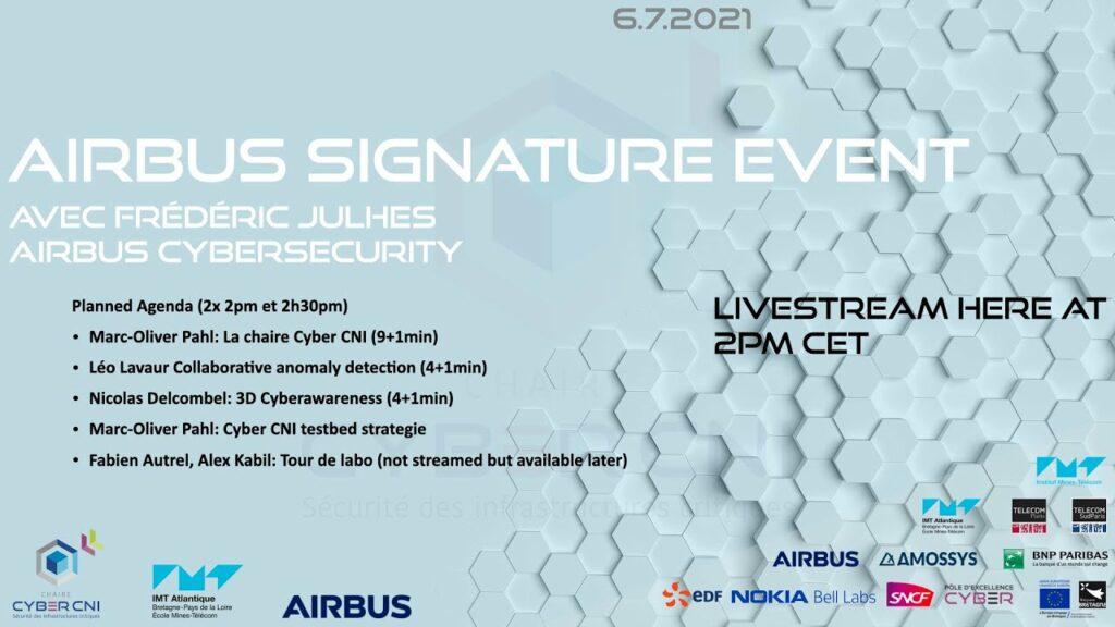 Événement signature d'Airbus avec IMT Atlantique avec une présentation de la chaire